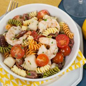 Seafood Puttanesca Salad – White Cooking Wine with Lemon