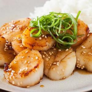 Scallop With Mustard Miso Sauce