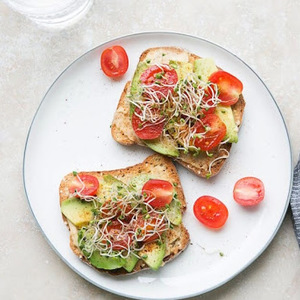 Hummus Tartine with Sprouts recipes
