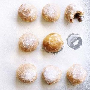 Baked mincemeat doughnuts